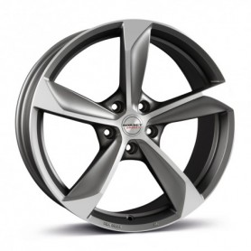 Cerchi in lega Borbet S 22x10 ET 35 5x112 graphite polished matt