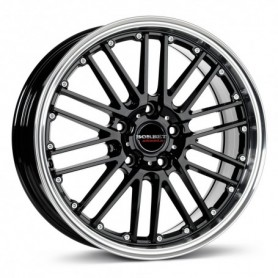 Cerchi in lega Borbet CW2 18x8 ET 50 5x112 black rim polished