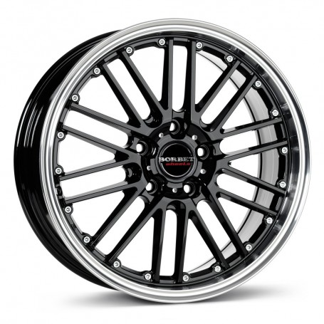 Cerchi in lega Borbet CW2 19x8,5 ET 45 5x108 black rim polished