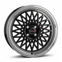Cerchi in lega Borbet B 17x7 ET 30 4x100 black rim polished