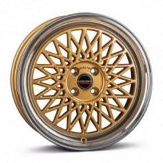 Cerchi in lega Borbet B 17x7 ET 38 4x100 gold rim polished
