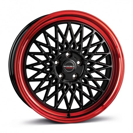Cerchi in lega Borbet B 17x8 ET 35 5x112 black rim red